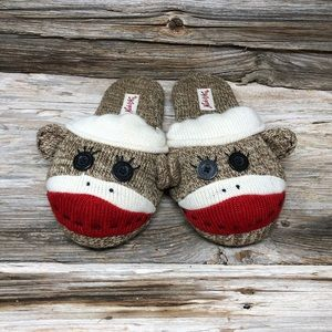 NWOT Nick and Nora Sock Monkey Slippers 5-6
